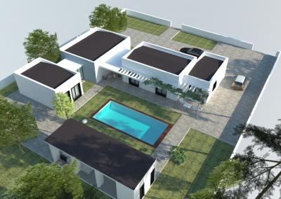 Vivienda unifamiliar aislada con piscina en Villar del Olmo (Madrid)